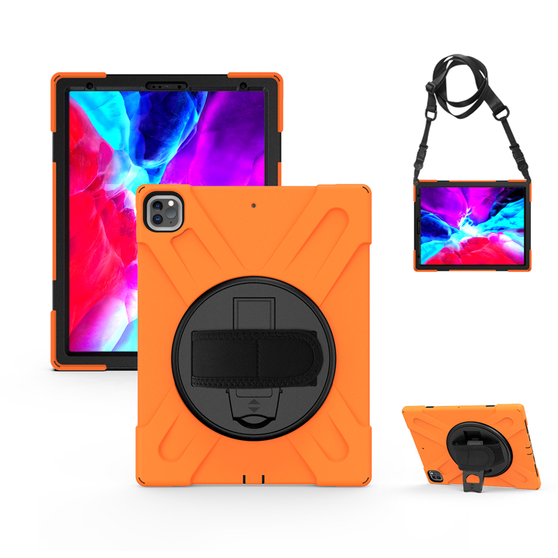2021 iPad Cover Protection with Heavy For Duty Hand+Neck A2379 Strap 12.9 Case A2461 Kickstand Rugged A2462 Pro