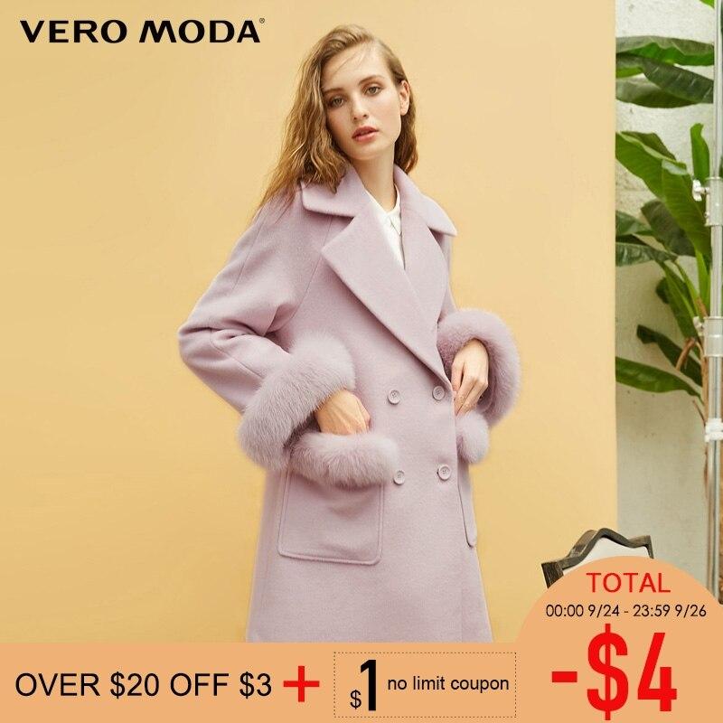 Vero Moda ใหม่ 100% เสื้อขนสัตว์ขนสัตว์ยาวแจ็คเก็ต  318327501-ใน ขนสัตว์และขนสัตว์ผสม จาก เสื้อผ้าสตรี บน   1