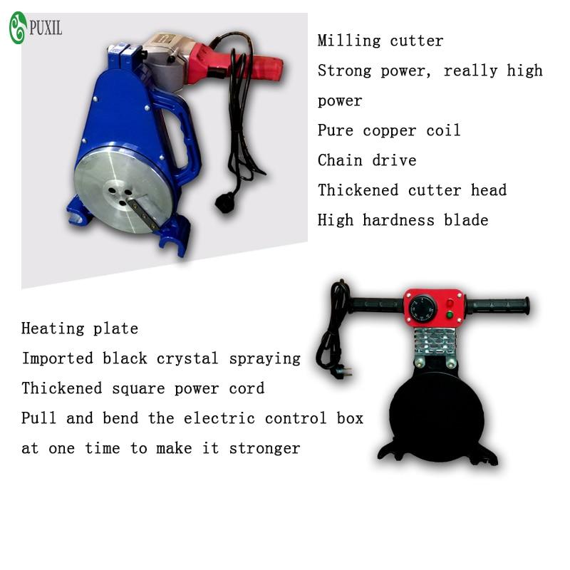 Tools : 63-200 Manual thrust butt welding machine PE fusion welding machine PE precision hot melting machine butt fusion welder 220V 110