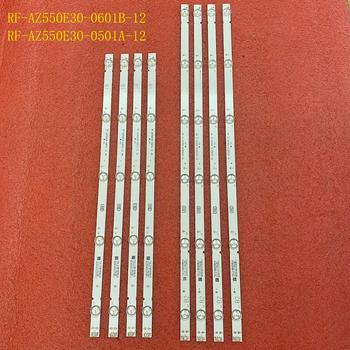8pcs/set LED backlight strip for Philco PTV55U21 LG 55UJ6300 55UJ6200 55UJ6000 55LJ620V 55UJ620V RF-AZ550E30-0601B-12 0501A A4 1