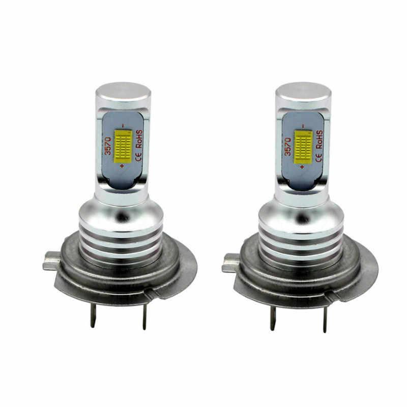 H7 80W 3570 2SMD podkreślić lampa przeciwmgielna LED samochodowa światła motocykl 6500K 1700-1800LM Auto jazdy światła przeciwmgielne 12V 24V LED przednie światła samochodowe