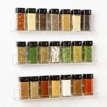4 unids/lote caja de condimento transparente estante recipientes para especias caja de condimento transparente contenedor de almacenamiento tarro de especias accesorios de cocina
