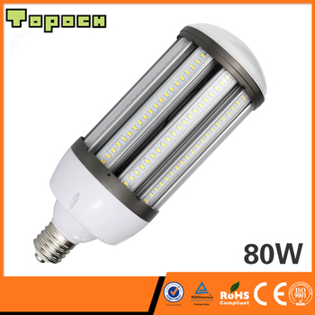 Topoch LED Bulb Corn Light 80W 100W 120W 120LM/W UL CE Listed 250W-400W MHL/HPS Replacement Mogul Base IP64 Large Area Lighting