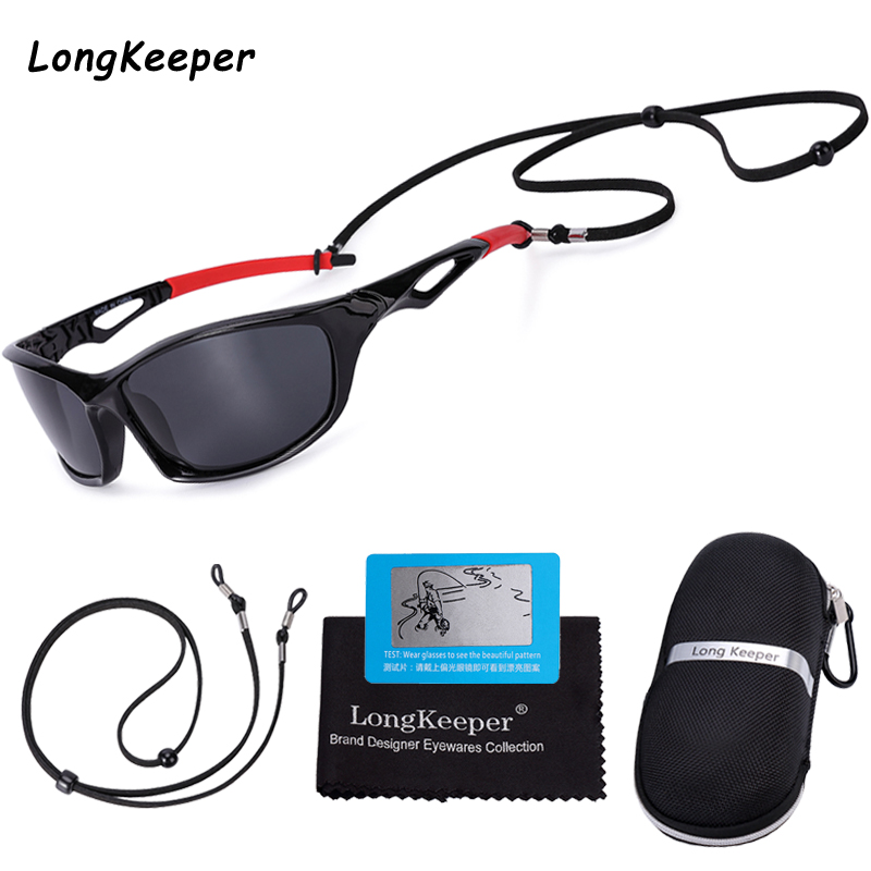 Sunglasses Men Polarized Fishing Glasses Women Fashion Retro Square Driving Goggles Glasses Sports Eyewear With Sport Lanyard