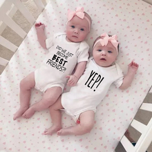 Rompers Best-Friends Playsuit Short-Sleeve Twin-Jumpsuits Baby-Boys-Girls Baby Cotton