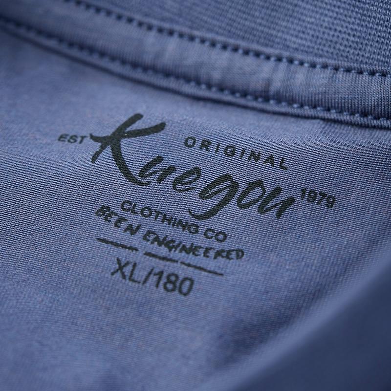 KUEGOU, гладкая хлопковая Модальная футболка, крутая белая мужская футболка, летняя мужская одежда, футболка с короткими рукавами, Мужская футболка наивысшего размера плюс DT-5939