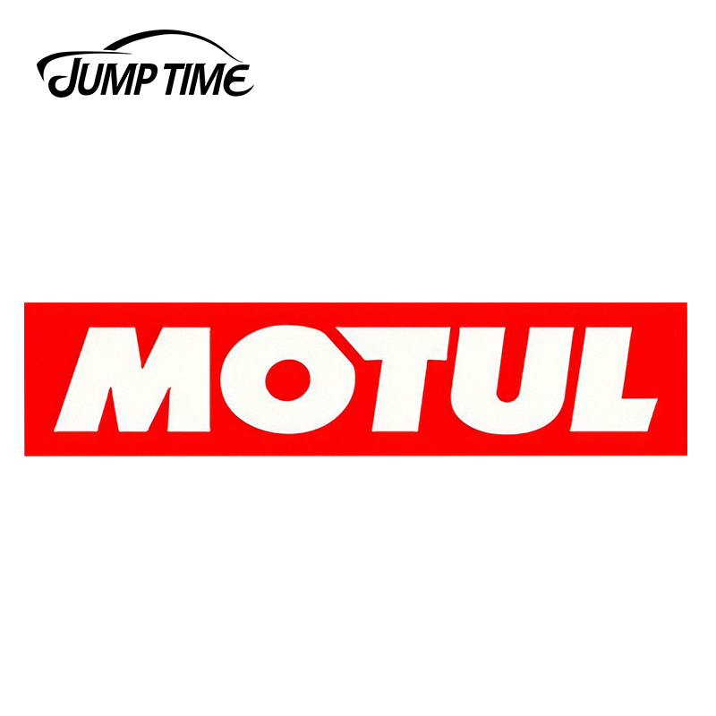 JumpTime 13cm X 3cm For Motul Voiture Course Autocollants Auto Vinyl Sticker Car Bumper Decal Waterproof Accessories Race Huile