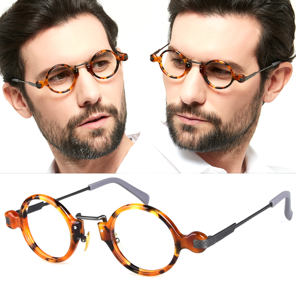 High Quality Titanium Acetate Creative Glasses For Men Women Optical Prescription Eyeglasses With Colored Round Circle Frame