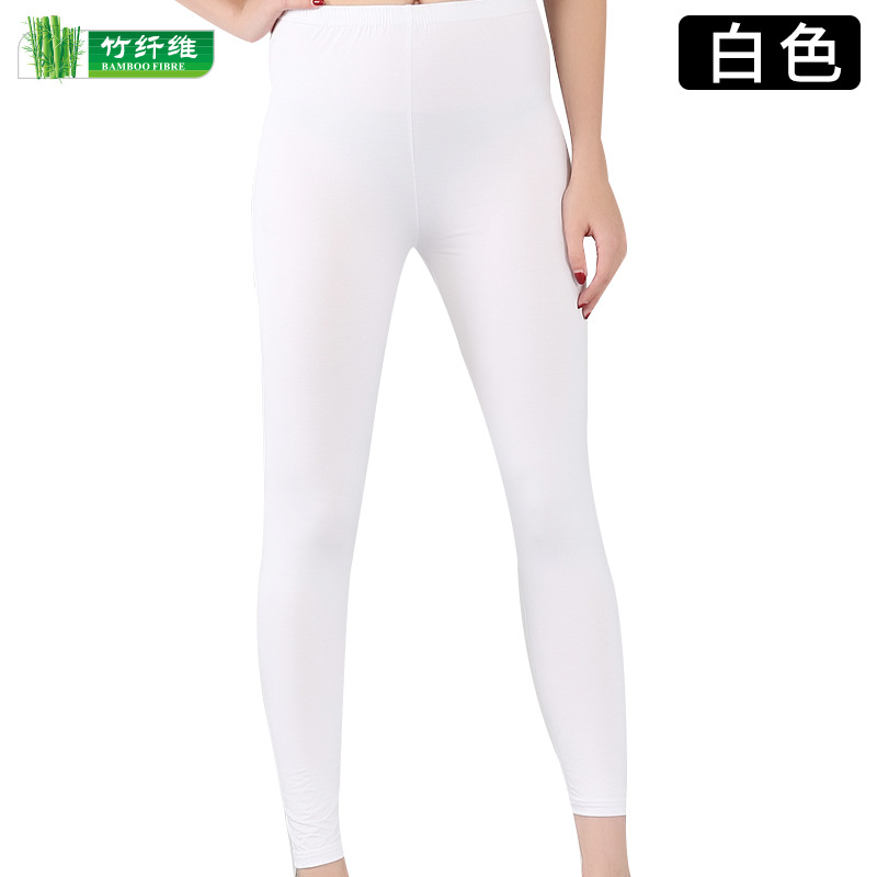 2020 Women's Spring And Autumn Increase Bamboo Fiber Tight Nine-point    910