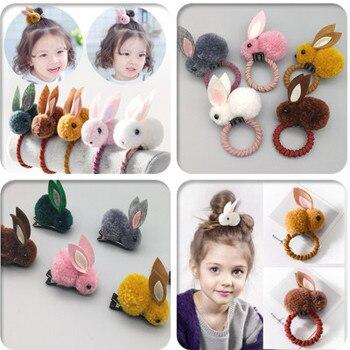 A lady and children's universal cute felt three-dimensional rabbit rabbit rabbit ears hair clip hair loop hair accessories