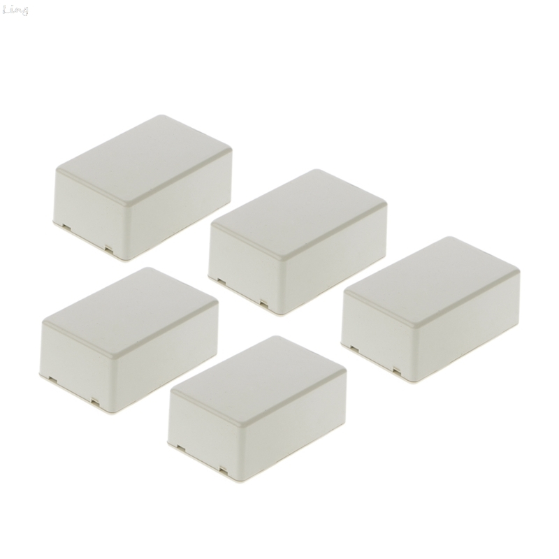 5Pcs New Plastic Electronic Project Box Enclosure Instrument Case DIY 70x45x30mm