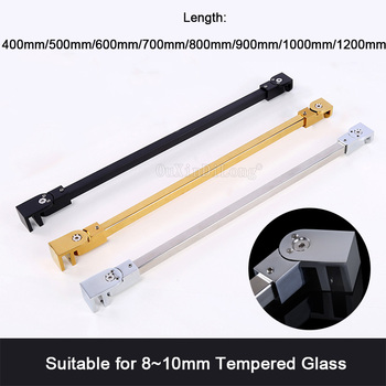 1PCS Stainless Steel Matte Black/Gold/Chrome Frameless Shower Door Supporting Bar Bathroom Wall-To-Glass Holding Clamp GF11 светильник fametto dls l127 2001 luciole chrome glass