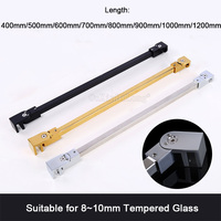 1PCS Stainless Steel Matte Black/Gold/Chrome Frameless Shower Door Supporting Bar Bathroom Wall To Glass Holding Clamp GF11