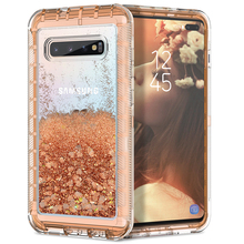 Luxury Quicksand 3 in 1 Hard Case For Samsung Galaxy Note 9 8 S10P S8 Plus S7 Cover Liquid shockproof