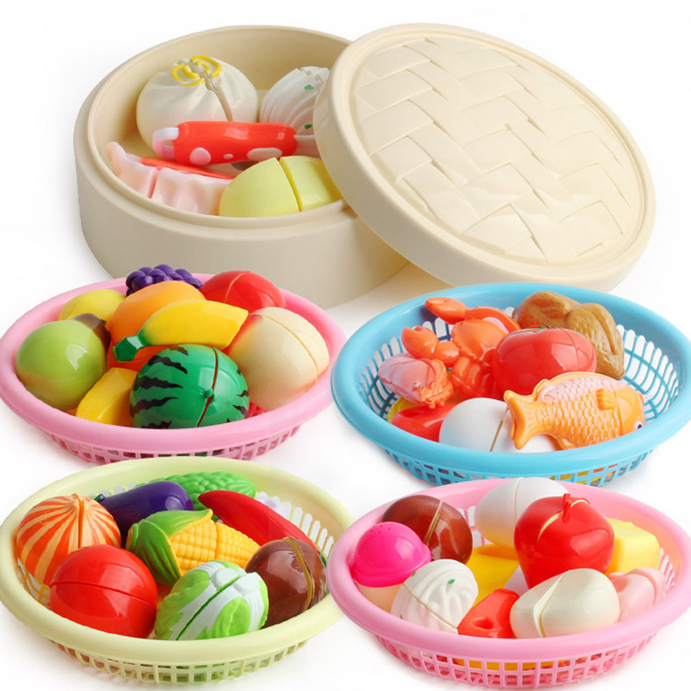Diy Simulation Kitchen Tools Pretend Cut Fruit Vegetable Play Toys Puzzle Education Children Kitchen Play House Food Game Toys