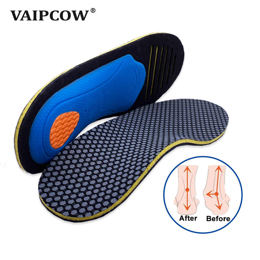 VAIPCOW High quality EVA orthotics Insole for Flat Foot Arch Support Shoes insert Pad orthopedic Insoles for men and women shoe