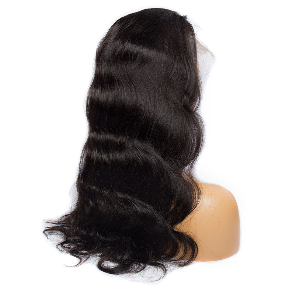 Malaysian Body Wave 360 Lace Frontal Wig Pre Plucked With Baby Hair ALIBELE Remy Human Hair Wigs For Black Women 150 Density