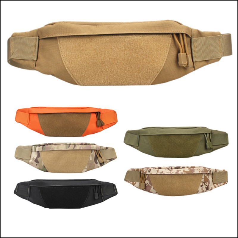 1pc Military Tactical Waist Pack Fishing Bags Adjustable Running Waist Pouch Fanny Pack Cycling Belt Belly Bag Men's Sportswear