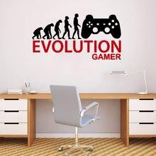 Милые человеческие геймерские настенные наклейки из ПВХ роспись