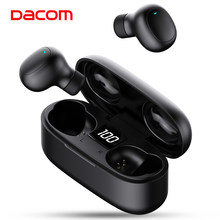 DACOM Asli U7 Tws Benar Earbud Nirkabel Baru Auriculares Bluetooth 5.0 Headphone Earphone dengan LED Display untuk Ponsel(China)