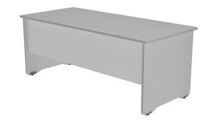 TABLE OFFICE 'S WORK SERIES 140X80 ALUMINUM/GREY