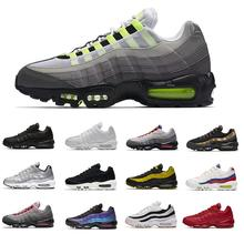 Wholesale Anniversary Men Running Sports Shoes 95s Trainer Black Sole Grey Blue High Quality Chaussures Tennis Shoes