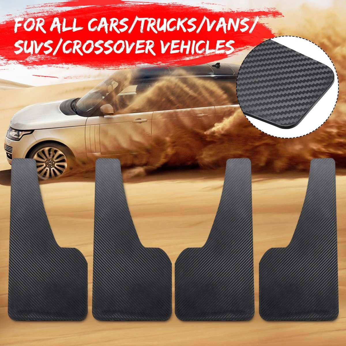 אוניברסלי 4pcs רכב מגיני בץ קדמי אחורי סיבי פחמן סטיילינג מגני בץ משמרות Splash פנדר אבזרים