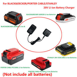 Image 2 - 3 in 1 Charger Adapter For Black & DECKER/PORTER 20V Lithium Batteries CABLE/STANLEY Plug LCS1620 500mAh Charger Power Supply