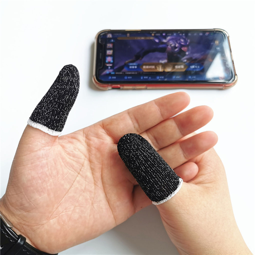 10pcs Mobile Game Controller Fingertip Sleeve Anti-Sweat Full Touch Screen Sensitive Fingertip Sleeves