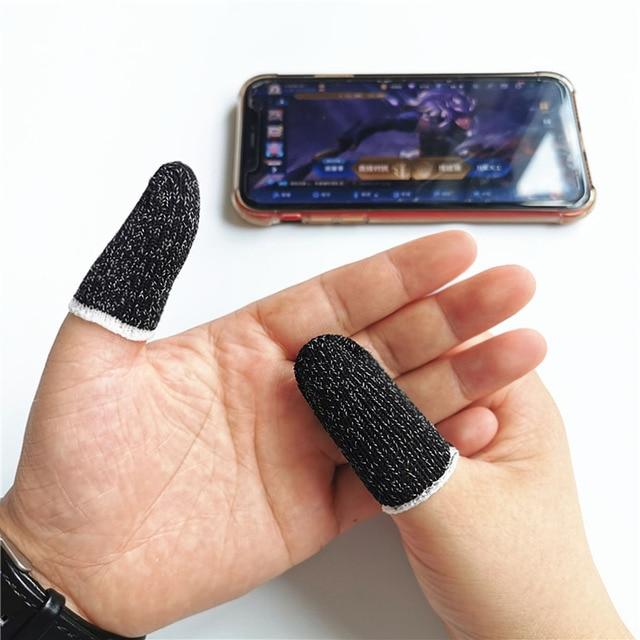 10pcs Mobile Game Controller Fingertip Sleeve Anti Sweat Full Touch Screen Sensitive Fingertip Sleeves