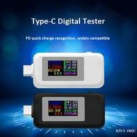 10 em 1 dc tipo c usb tester atual 4 30 v medidor de tensão cronometrando amperímetro monitor digital corte fora carregador de banco indicador de energia Medidores de tensão     -