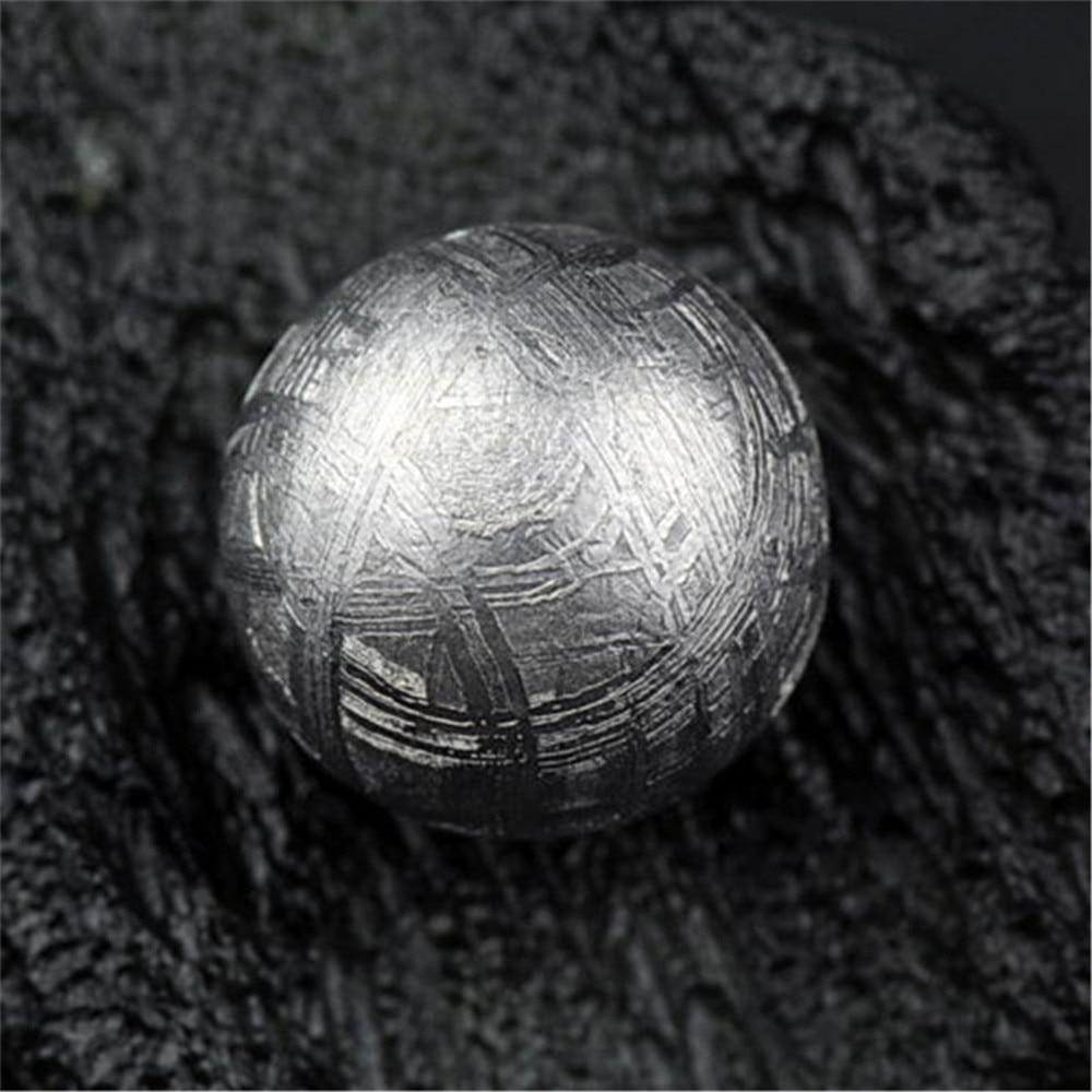 14mm Genuine Natural Gibeão Meteorito de Ferro Moldavita Solto Forma Redonda de Prata Um Talão Acessório Para DIY Colar Pulseira AAAAA - 2
