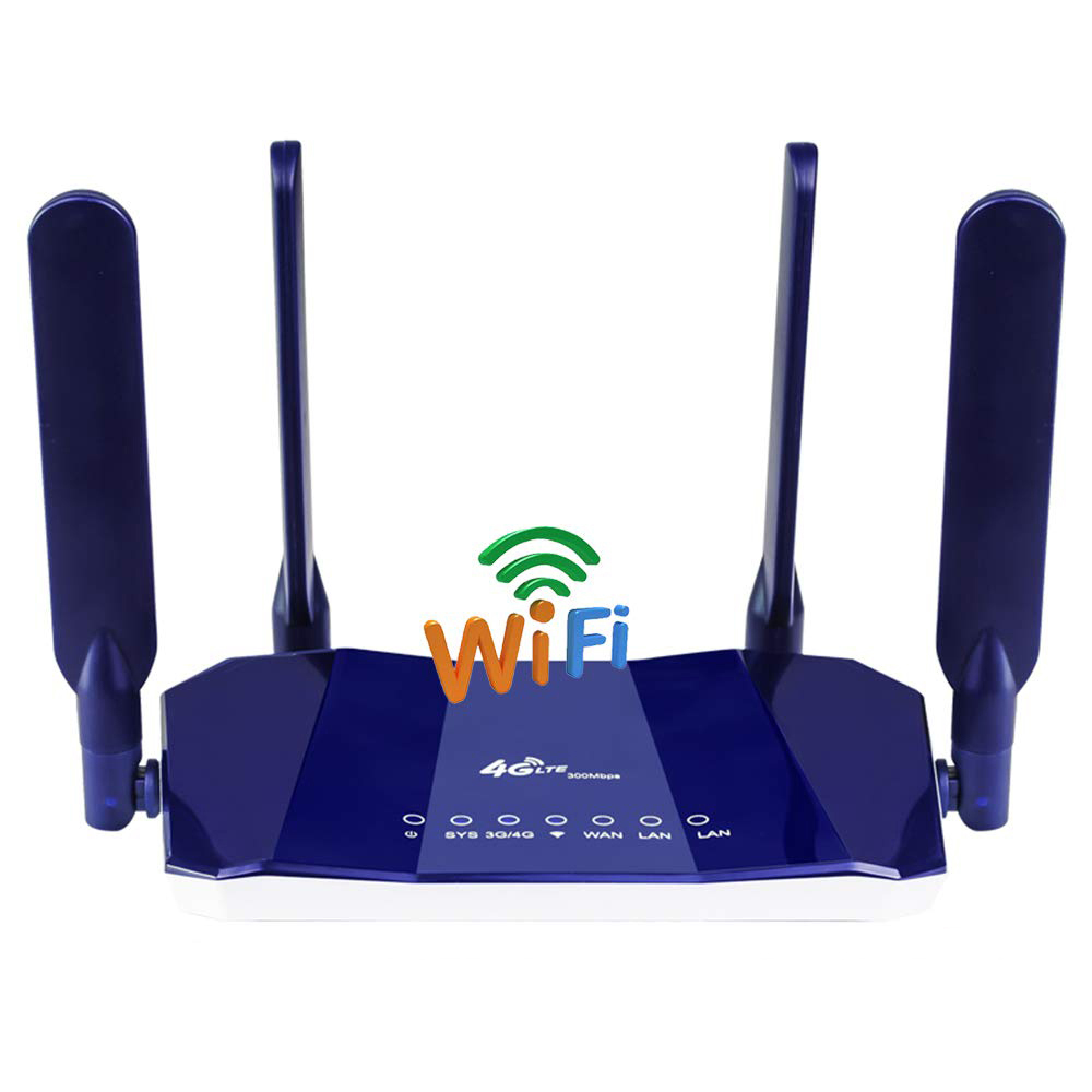 YIZLOAO 4G LTE CPE/Router 300Mbps Gateway Unlocked Wifi Router 4G LTE FDD TDD RJ45 Ethernet Ports&Sim Card Slot Up To 32user