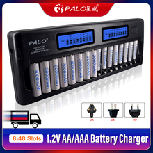 8 48 Slots Fast Smart Charger LCD Display Intelligent AA AAA Battery Charger for 1.2V AA AAA Ni MH NiCd Rechargeable Battery