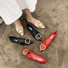 солнечный Эверест женщин насосы мелкая рот офисный металлический наконечник плоские ботинки женщин лета 2020 года новый корейский диких повседневная мягкие