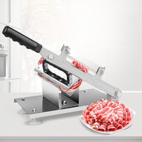 Household Manual Meat Slicer Beef And Mutton Roll Skiving Machine Alloy Steel Blade V Shaped Meat Rack Stainless Steel
