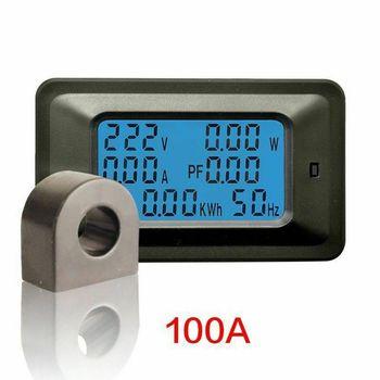 20A / 100A AC LCD Digital Panel Power Watt Meter Monitor Voltage KWh Voltmeter Ammeter Tester Tools ac power meter ac 80 300v 100a voltage current color lcd display panel digital voltmeter ammeter with current transformer ct