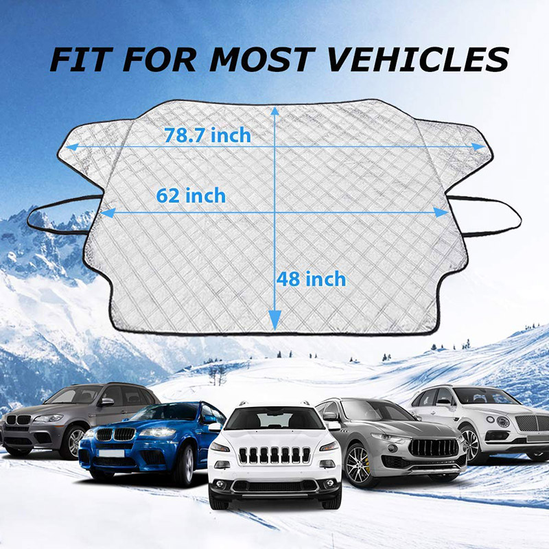 Car Windshield Snow Cover Sun Waterproof Shade Protector Thicker Snow Protection Cover for Front Glass for Auto Outdoor Winter