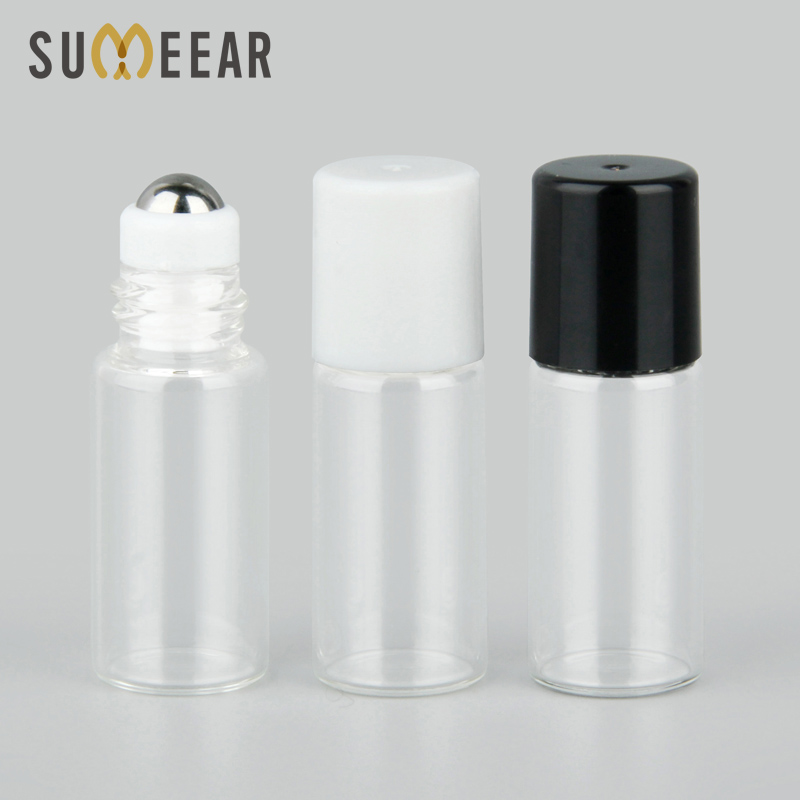 50 Pieces/Lot 3ml Mini Refillable Perfume Bottle Essential Oils Vial Empty Perfume Sample Roller Bottle