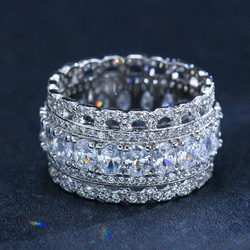 Модное роскошное кольцо из стерлингового серебра S925 пробы с фианитом ААА, обручальные серебряные свадебные украшения
