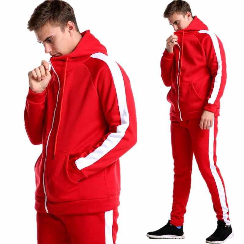 Traje casual para Hombre Ropa Deportiva de invierno sudadera de manga larga casual ropa deportiva nueva cremallera Sudadera con