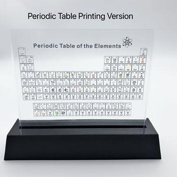 Drukowanie wersji akrylowe elementy chemiczne wyświetlacz biurka okresowy wystrój stołu elementy oprawione dla studentów nauczyciele zestaw do pakowania prezentów tanie i dobre opinie Chemicznego