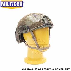 Image 4 - MILITECH баллистический шлем БЫСТРЫЙ MC Deluxe червячный циферблат NIJ уровень IIIA 3A высокой резки ISO сертифицированный Twaron Пуленепробиваемый Шлем DEVGRU