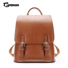 Genuine Leather Women Backpacks for Female 2019 Oil Wax Vintage Backpack For Cow Ladies Double Shoulders Bags