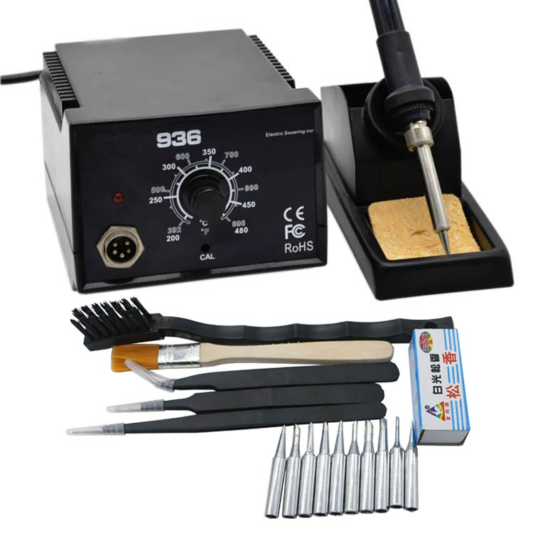 Big power High Quality 600W 936 Soldering Station Electric Solder Iron LED Digital Solder Iron 937 solder station BGA with tools