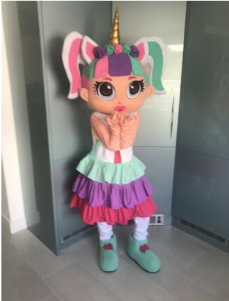 Newest 6 Models Girl Doll Lol Unicorn Mascot Costume Christmas Fancy Dress Halloween Mascot Costume Free Ship