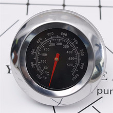 Outdoor Stainless Steel DIAL Display Kitchen Thermometer 500 ℃ 1000℉ Degree Roast Barbecue oven thermometer Dining Tools