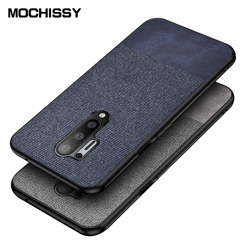 For OnePlus 8 Pro Case Shockproof Back Cover Cloth Fabric Silicone Soft Edge Protect Case For One Plus 8 Pro Case Funda