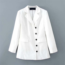 White Color Suit Blazer Jacket Women Fashion Long Sleeve Coa