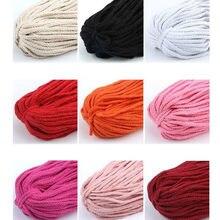 1 pçs colorido cabo de algodão natural bege torcido corda artesanato macrame corda diy casa decorativa trançado material 5mm * 100 quintal